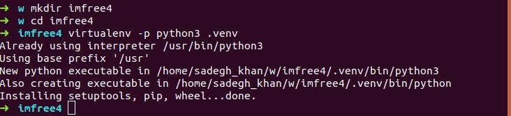 virtualenv with python3